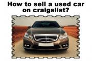 How to sell a used car on craigslist?